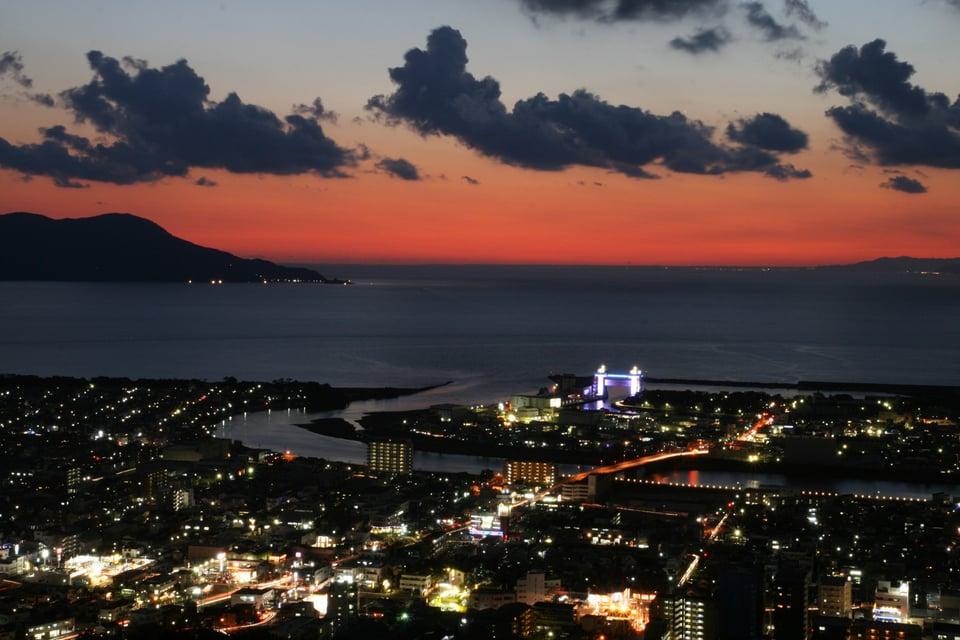 香貫山からの夕景